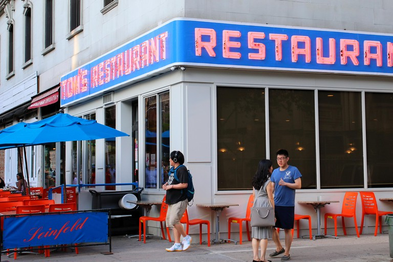 NEW YORK, NY - JUNE 15: Tom's Restaurant, which exterior was routinely used in Seinfeld episodes. Manhattan on JUNE 15th, 2017 in New York, USA. (Phot