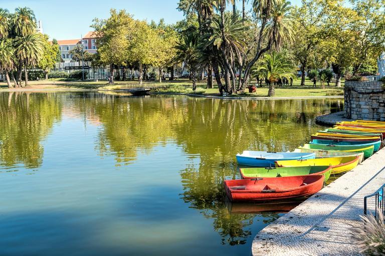 The romantic lake of Jardim in Campo Grande, Lisbon