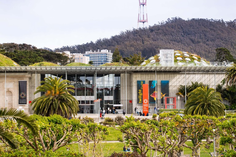 May 6, 2018 San Francisco / CA / USA - Entrance to the California Academy of Sciences in Golden Gate Park