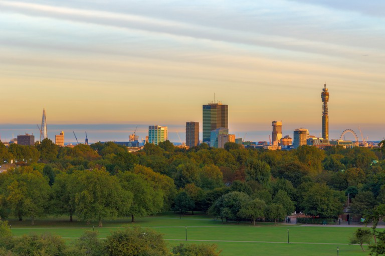 Get views for miles from Primrose Hill