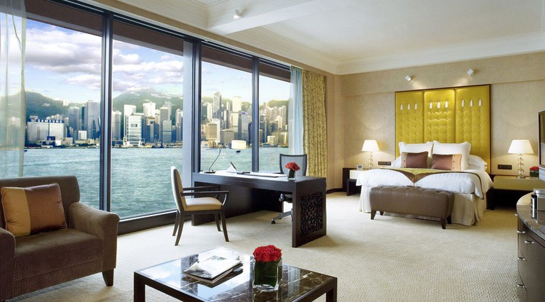 The suites and rooms at the InterContinental Hong Kong offer panoramic views of Victoria Harbour and Hong Kong Island