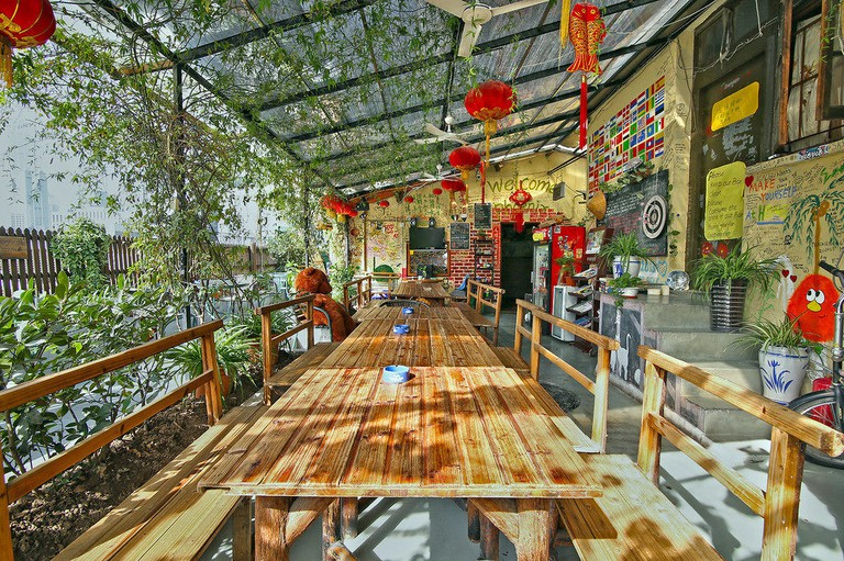 Guests at The Phoenix can relax on the hostel's rooftop terrace