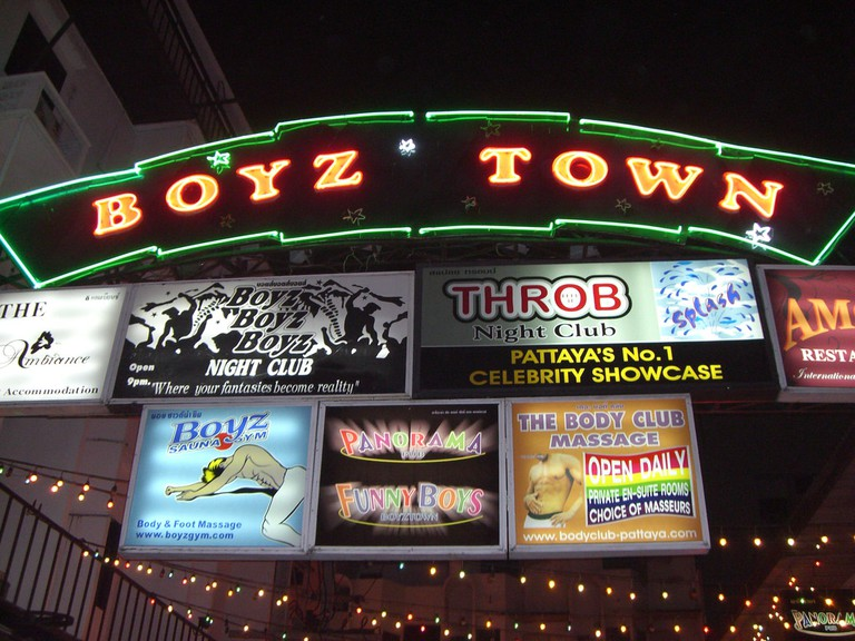Entrance to Pattaya's Boyz Town