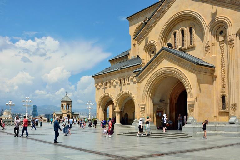 Holy Trinity Cathedral (Tsminda Sameba) of Tbilisi. Georgia, Caucasus