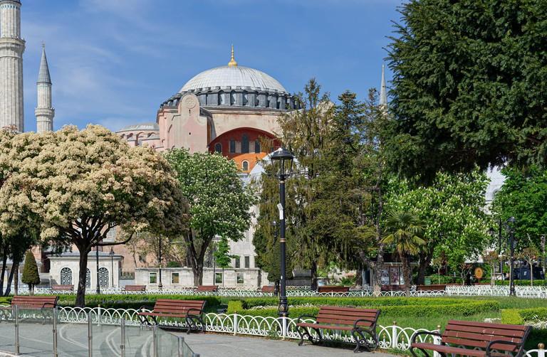 Saint Sophia,Hagia Sophia, Ayasofia historical landmark Istanbul, Turkey