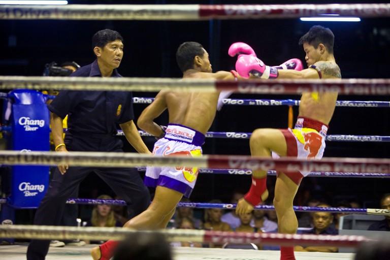 Thai Boxing Lumpinee Stadium Bangkok Thailand