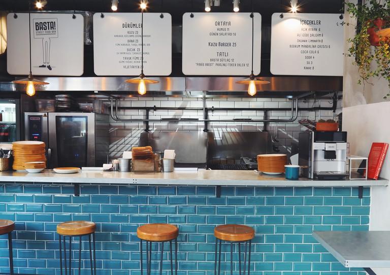 Interior of Basta! Street Food Bar