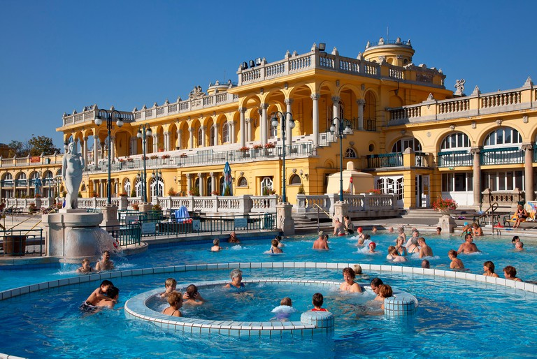 The Széchenyi bath complex is famed for its Neo-Renaissance architecture