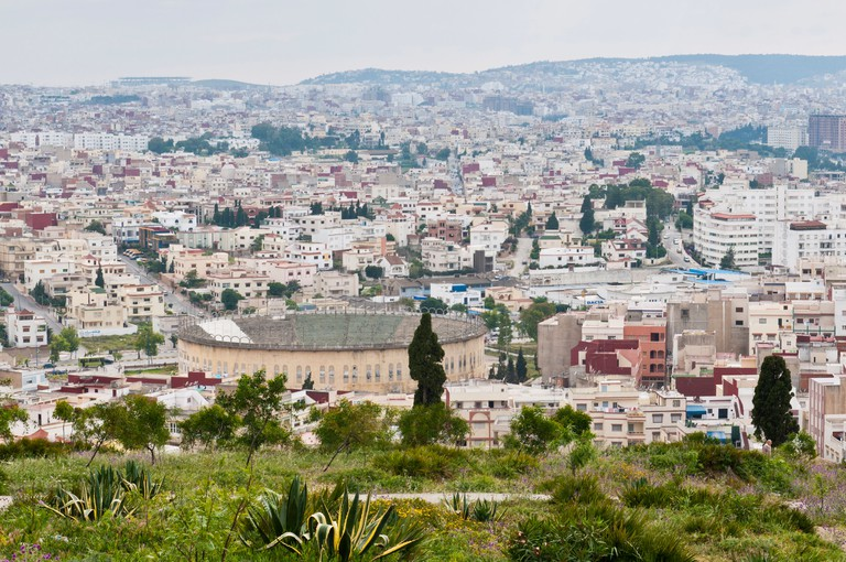 View of Tangier and Plaza de Toros from Charf Hill