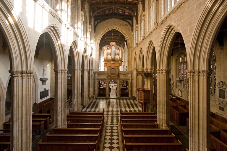 The University Church of St Mary the Virgin, Oxford. Image shot 12/2011. Exact date unknown.