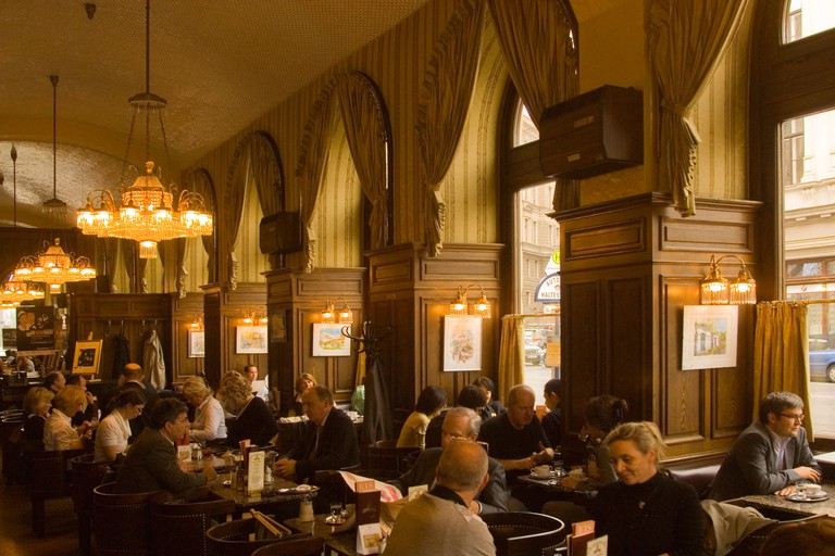 Café Schwarzenberg is almost exclusively frequented by locals