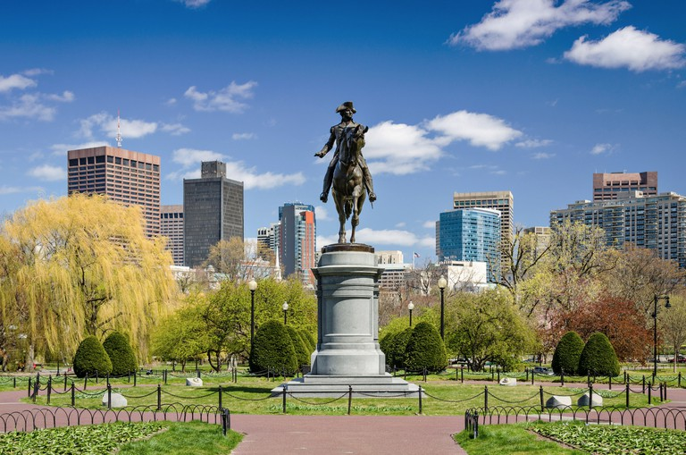 Boston, Massachusetts at the Public Garden in the spring time.. Image shot 04/2012. Exact date unknown.