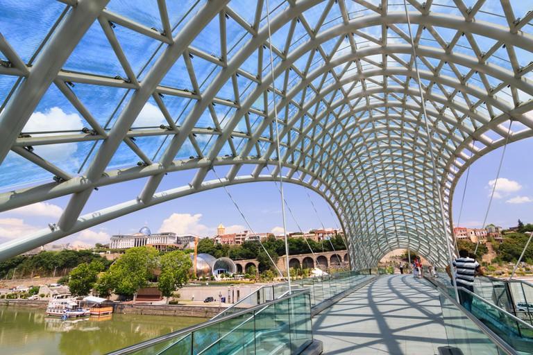 New Peace Bridge, Tbilisi, Georgia