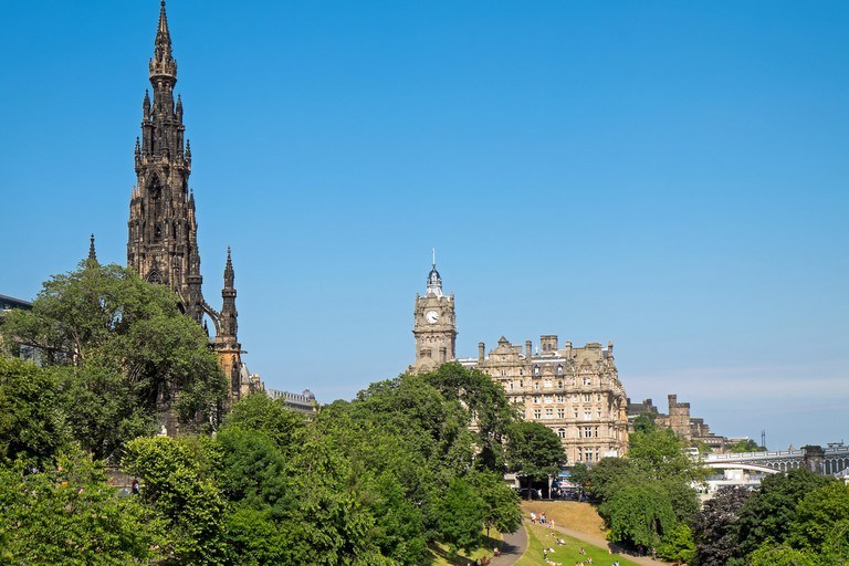 The Scott Monument commemorates the life and work of author Sir Walter Scott