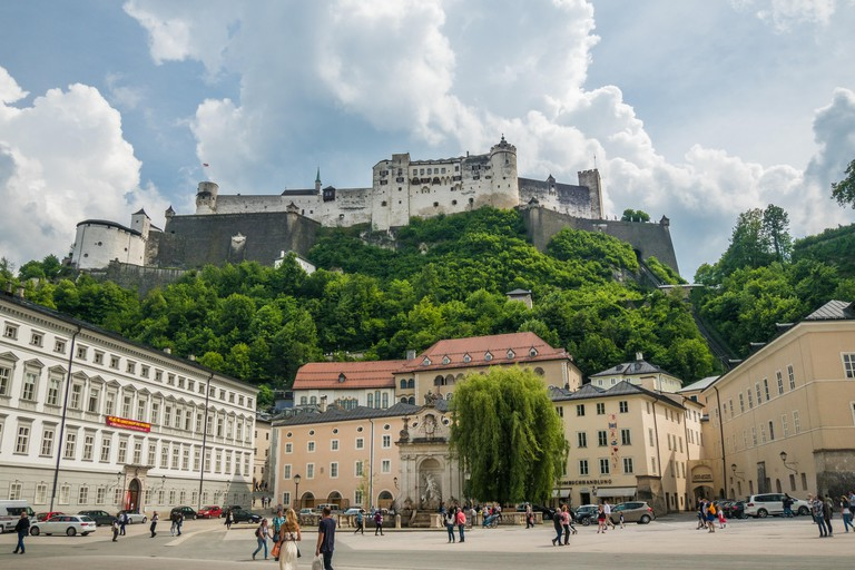 Medieval fortress Hohensalzburg in Salzburg, Austria.