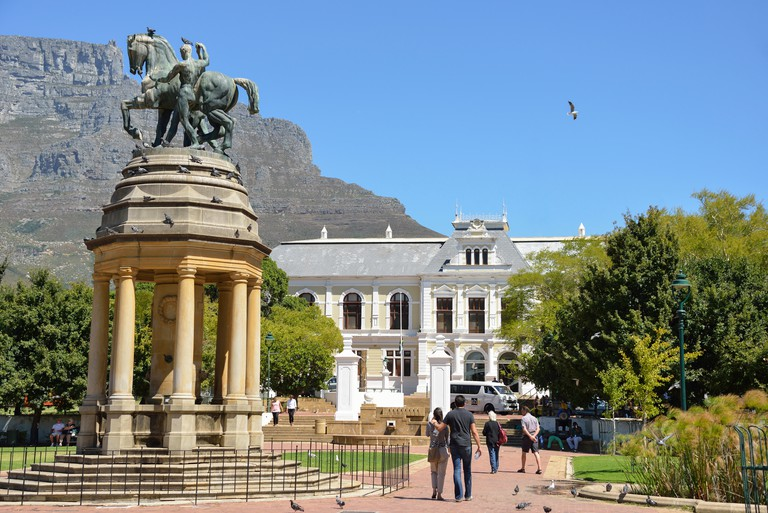 Delville Wood Memorial and Iziko SA Museum, The Company's Garden, Cape Town, Western Cape Province, Republic of South Africa