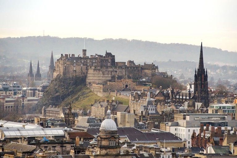 Edinburgh Castle affords some of the best views of the city