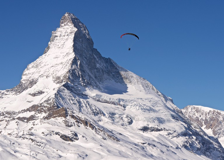 Zermatt has its own paragliding taxi service