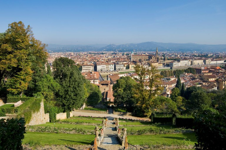 A view over the Gardens Of Villa Bardini in Florence