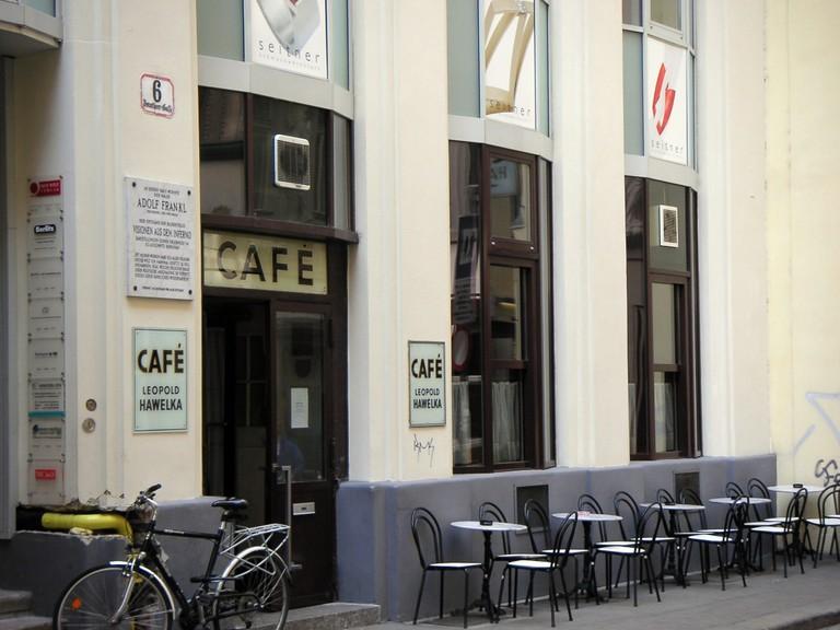 Café Hawelka is located in Vienna's prestigious first district