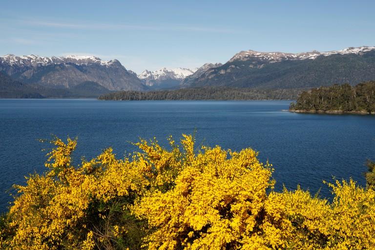 View over Lake Nahuel Huapi, Nahuel Huapi National Park, The Lake District, Argentina