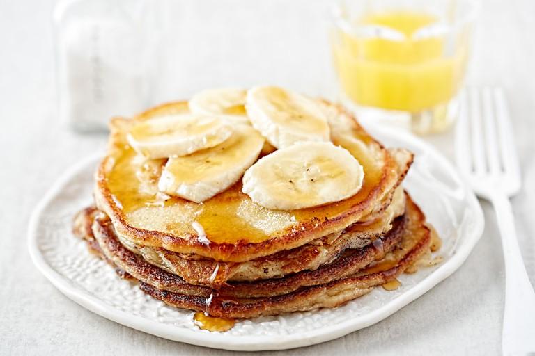 Banana pancakes maple syrup