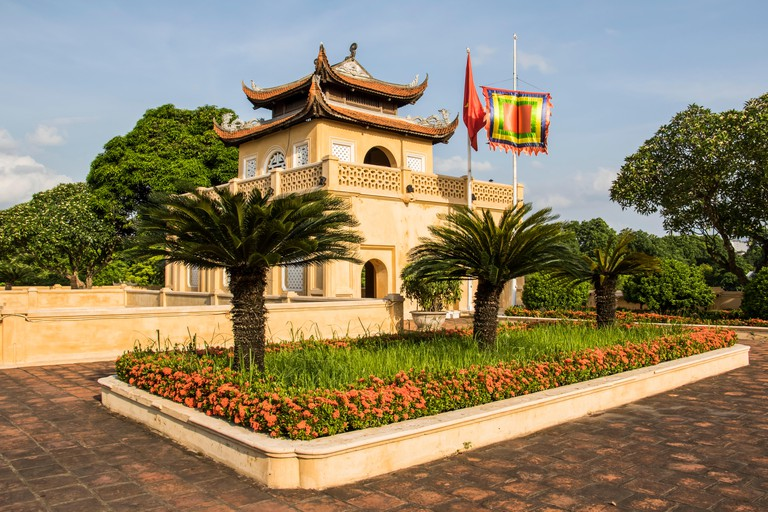 Doan Mon, the main gate to the palatial complex of later Le Emperors in the Central Sector of the Imperial Citadel of Thang Long, Hanoi, Vietnam