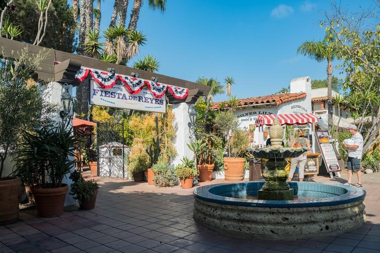 San Diego, JUN 27: Beautiful building in the historical old town on JUN 27, 2018 at San Diego, California