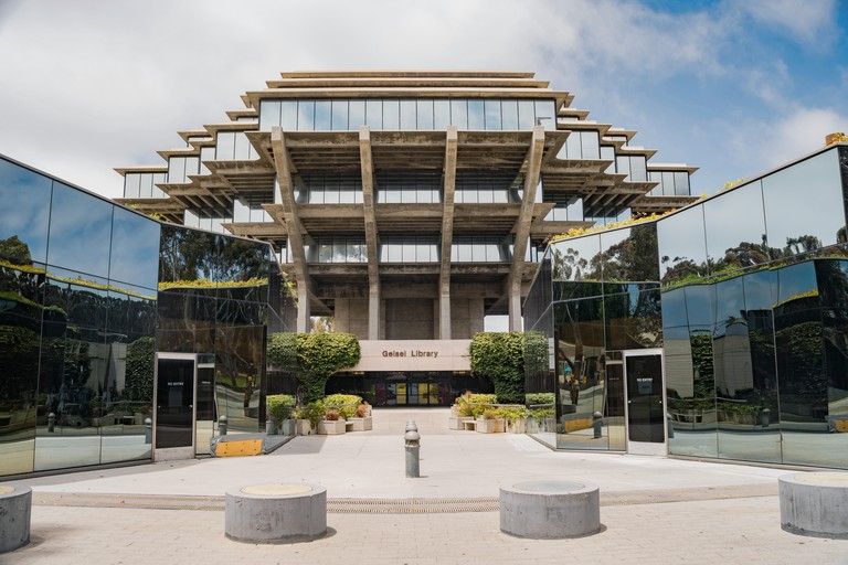 The famous Geisel Library of Universtiy of California San Diego