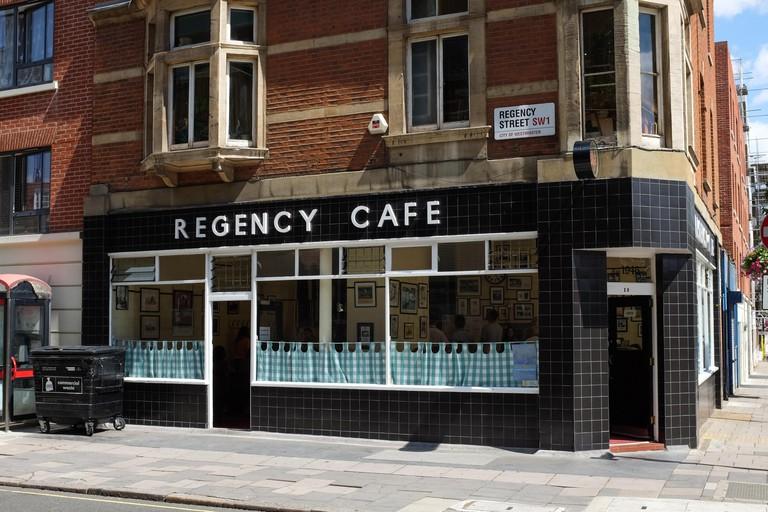 The Regency Café's menu is full of British breakfast classics