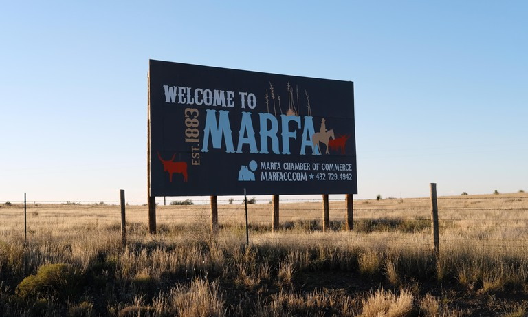 The Welcome to Marfa, Texas Sign