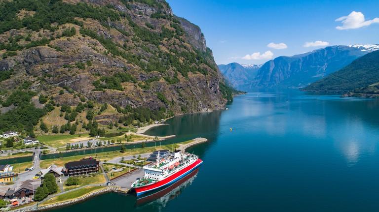Cruise in Sognefjorden, Norway.