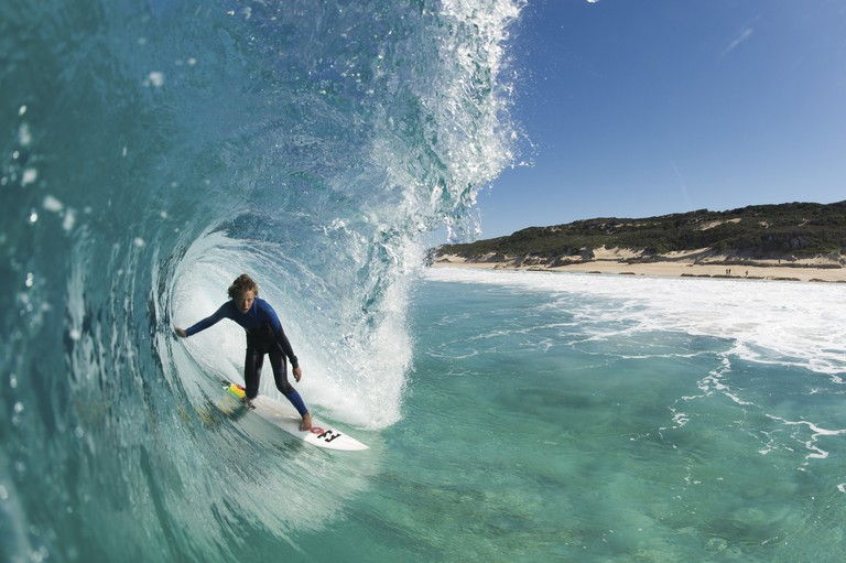 Surfing at Boodjidup Beach, Margaret River © Tourism Western Australia