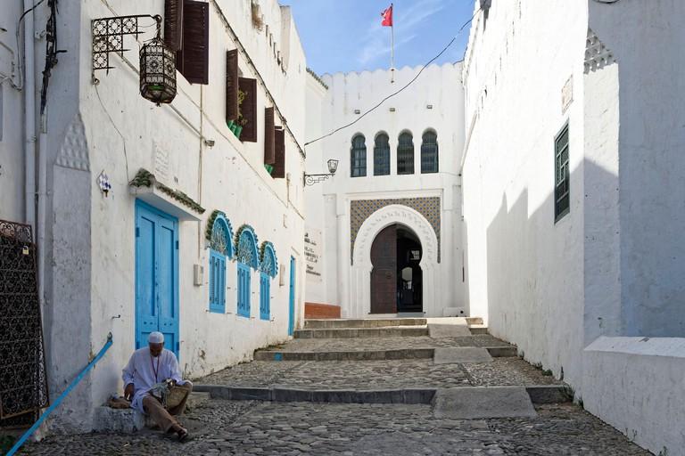 Morocco, Tangier Tetouan region, Tangier, the old city (medina), Kasbah, Dar-el-Makhzen or Sultan palace, Kasbah Museum of Mediterranean cultures