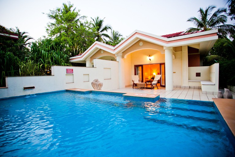 The pool at Taj Exotica Resort & Spa, Goa