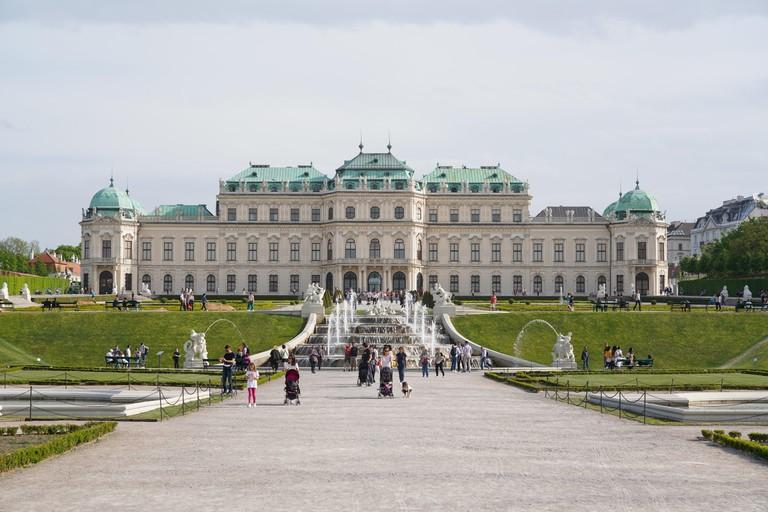The Upper Belvedere, Vienna, Wien, Austria, Europe.