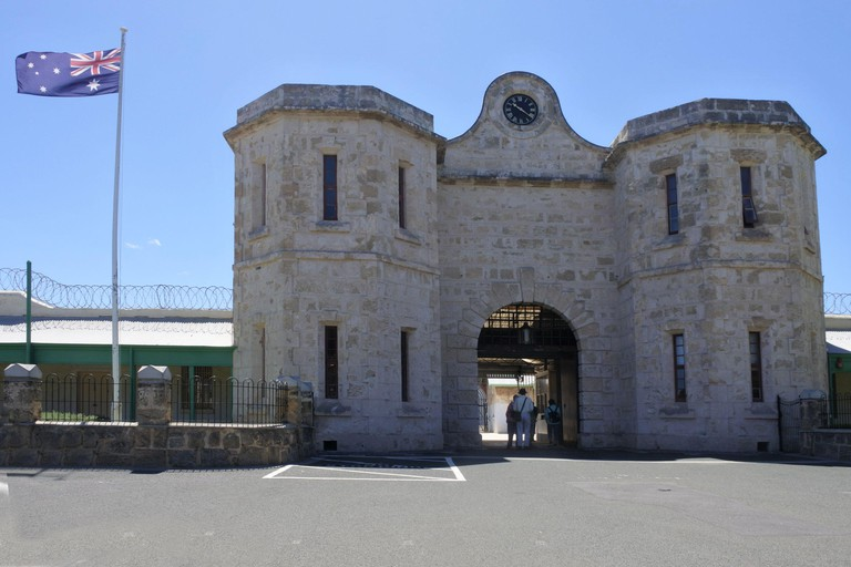 Fremantle Prison, a former Australian prison and World Heritage Site in Fremantle