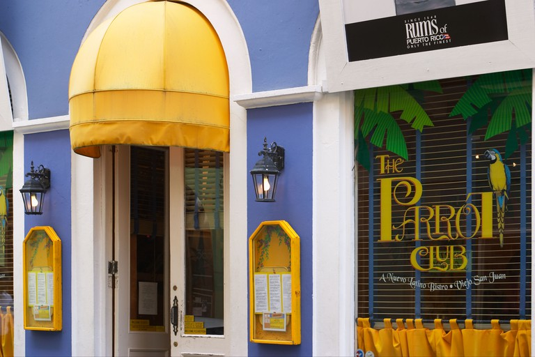 Parrot Club restaurant, Old San Juan