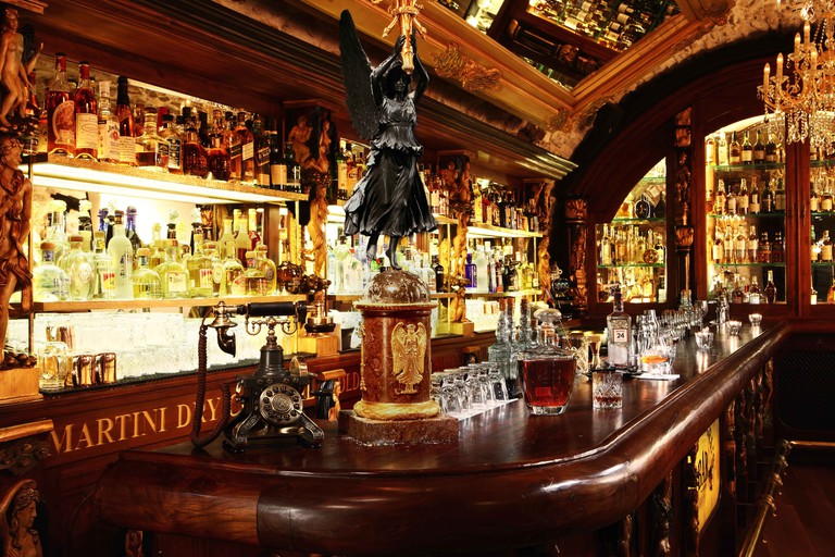 Black Angel's Bar in Prague, Czech Republic, serves award-winning cocktails in a Prohibition-era setting