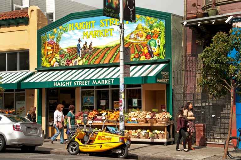 Market San Francisco Haight Street Ashbury California USA United States