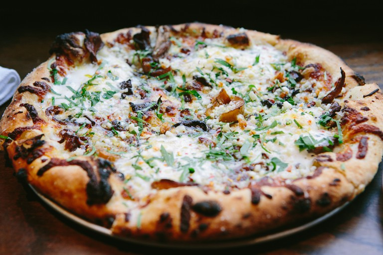 Feast on wood-fired pizza at Coppa Enoteca