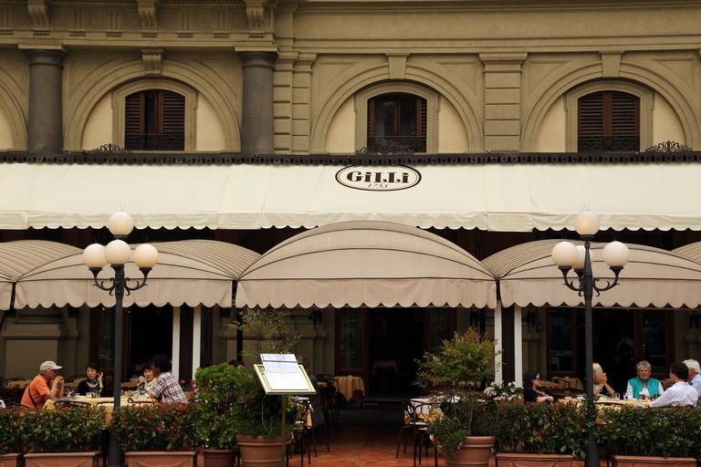 Cafe Gilli in Piazza della Repubblica in Florence Italy.