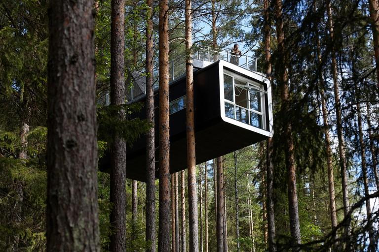 Sweden, Lapland, Norrbotten County, Harads, Treehotel, Cabine hut