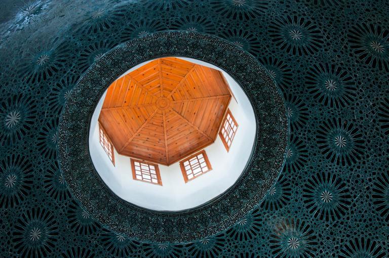 Ceiling of the Karatay Madrasa, now a museum in Konya, Turkey