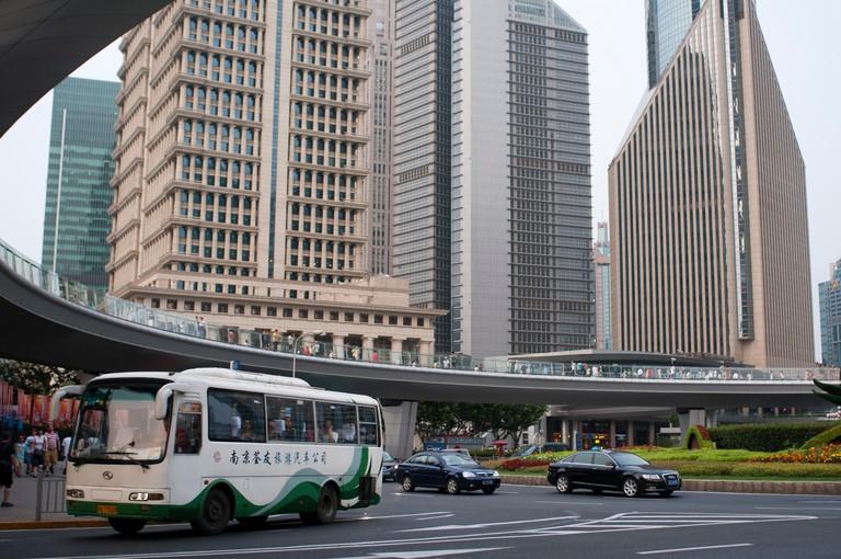 Lujiazui financial district, Shanghai, China