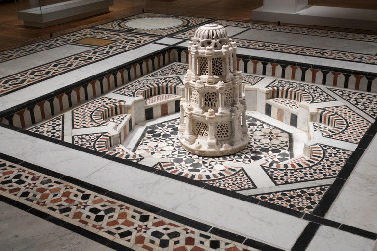 16th century marble and sandstone mosaic Egypt  inside Aga Khan museum toronto canada