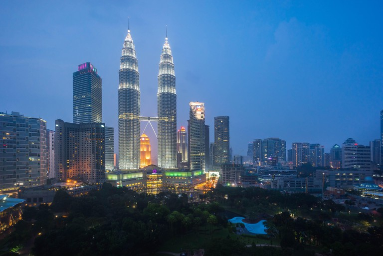 Petronas Twin Towers from the KLCC Park