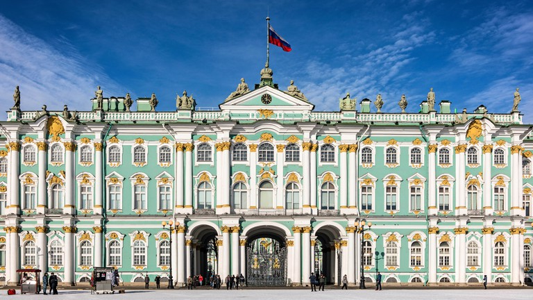 The Winter Palace, home of the State Hermitage Museum, St Petersburg, Russia