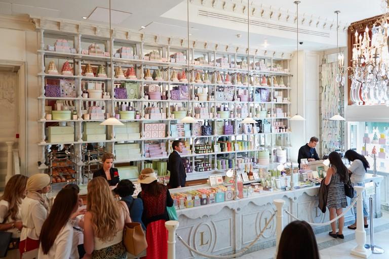 Laduree shop in Harrods department store in London