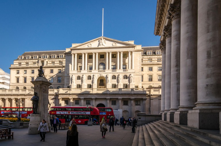 The Bank of England building was designed by Sir John Soane